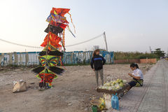 Kite seller Stock Photos