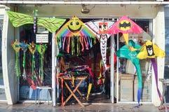 Kite Shop. BATAM, INDONESIA - FEBRUARI 5, 2015: Kite shop at Ocarina Beach in Batam, Indonesia royalty free stock photos
