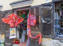 Kite shop Vietnam. Kites for sale at a shop in Hoi An, Vietnam Royalty Free Stock Image