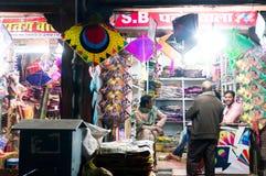 Kite shops with beautiful kites Stock Photos