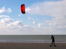 Kite skating stock image