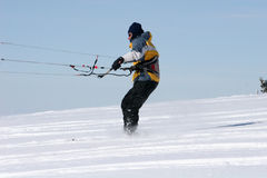 Kite skier Royalty Free Stock Photo