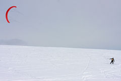 Kite skier Royalty Free Stock Images