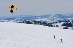 Kite Skiers Stock Photography