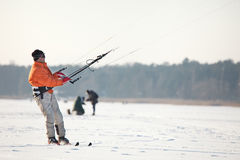 Kite-skiing Royalty Free Stock Images