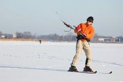 Kite-skiing Stock Photography