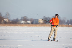 Kite-skiing Royalty Free Stock Photography