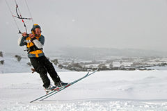 Kite skiing Stock Image