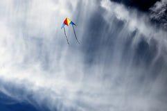 Kite in the sky. Kite in a deep blue sky Royalty Free Stock Photo