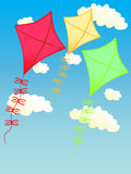 Kite on the sky. Kite fly at the sky stock illustration