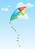 The Kite in the Sky. A illustration of a kite flying in the sky Stock Photo