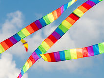 Kite in the sky. Colorful kite in the cloudy sky Stock Photos