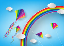 Kite on sky Stock Images