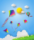 Kite on sky Stock Image