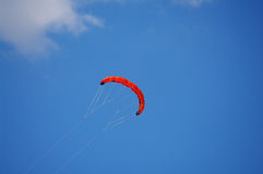 Kite sky fly. Colorful kite flying in the summer breeze royalty free stock photos