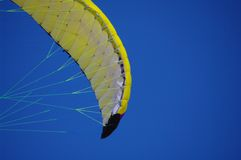 Kite sky fly. Colorful kite flying in the summer breeze stock image