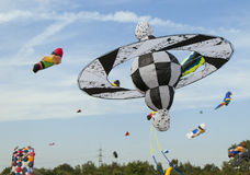 Kite in the sky with other kites Stock Photography
