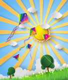 Kite on sky Royalty Free Stock Images