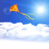 Kite in the Sky. Stock Images