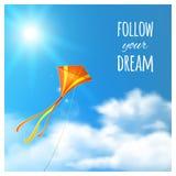 Kite in the Sky. Royalty Free Stock Photo