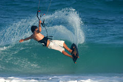 Kite snap 2. Kite surfer does a clean turn royalty free stock photography