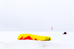 Kite Snow Stock Image