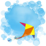 Kite in the sky. Kite soars in the sky royalty free illustration