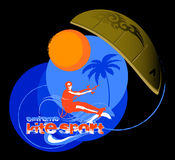 Kite sport. Logo for kite team or kite school illustration Royalty Free Stock Photos