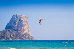 Kite sport Calpe Royalty Free Stock Images