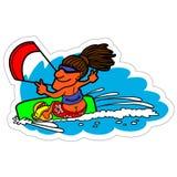 Kite sticker. Vector illustration Royalty Free Stock Photos