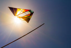 A Kite in the sunny sky Royalty Free Stock Images