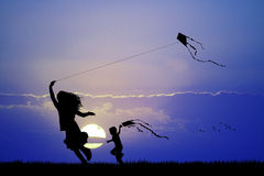 Kite at sunset Royalty Free Stock Photography