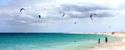 Kite surf Royalty Free Stock Images