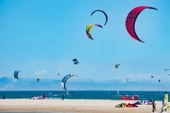 Kite surf Cadiz Spain Royalty Free Stock Photos