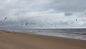 Kite surf in Montevideo Uruguay. In Carrasco beach Royalty Free Stock Photography