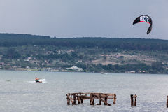 Kite Surf Paranoa Lake Brasilia Royalty Free Stock Image