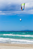 Kite surf in Sardinia Stock Images