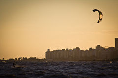Kite Surf - Sunset Royalty Free Stock Photography