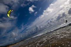 Kite Surfer. At beach in Tofo, Mozambique Royalty Free Stock Photos