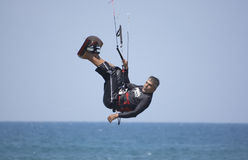 Kite-surfer royalty free stock photo