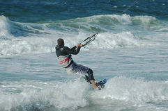 Kite Surfer 13. Kite surfer and waves Royalty Free Stock Photo