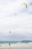 Kite-Surfer. This kite surfer was on the way from Melbourne to Warnembool. Great Ocean Road Stock Photography