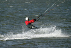 Kite Surfer. Poole Harbour, Dorset royalty free stock photo
