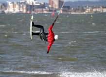 Kite Surfer. Poole Harbour, Dorset royalty free stock image