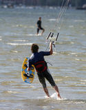 Kite Surfer. Kite surfing dude Stock Photo