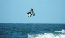Kite Surfer 7. Jumping high stock images
