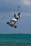 Kite Surfer. Male Kite surfer enjoying his sport in Grand Cayman Royalty Free Stock Photo