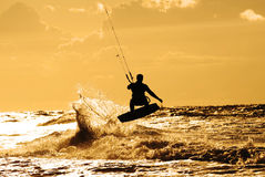 Kite surfer in action Royalty Free Stock Photo