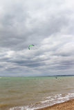 Kite surfer in action  Royalty Free Stock Photos