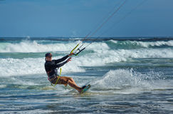 Kite surfer in Australia Royalty Free Stock Images